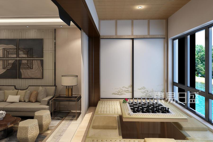 新中式风格阳台装修设计