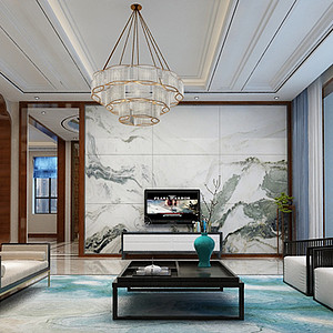 省政府家属院新中式风格380平方别墅