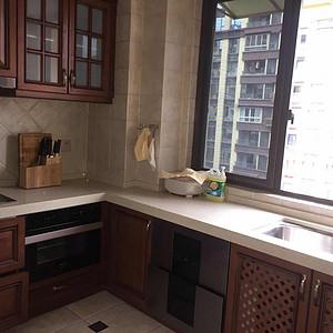 150㎡四居室美式风格厨房实景图