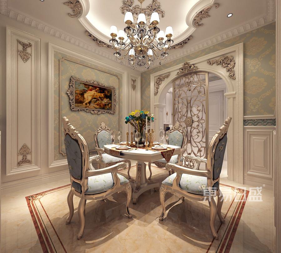 法式浪漫风格餐厅装修效果图