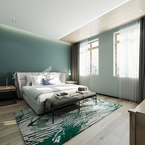 主卧室本空间大色调为浅棕