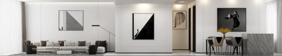 现代极简风格客厅装修设计