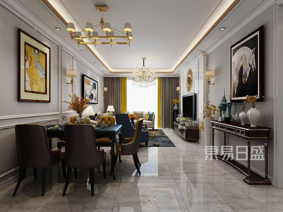 碧水龙庭-欧式轻奢-客厅装修效果图