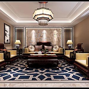 和园 中式风格装修效果图 三室二厅一厨二卫 240平米