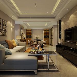 中海上林院125平现代风格装修案例