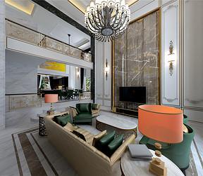 欧式风格--客厅
