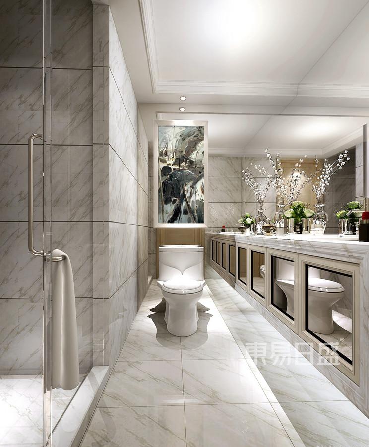 半岛城邦-欧式古典风格-卫生间装修效果图