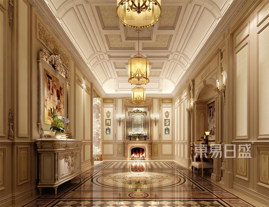法式古典风格门厅装修效果图