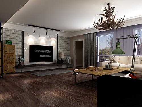 金地檀府158平简美风格案例效果图装修设计理念