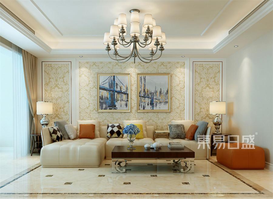 134平达润御园简欧风格客厅装修效果图