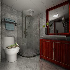 碧水园新中式风格卫生间装修效果图