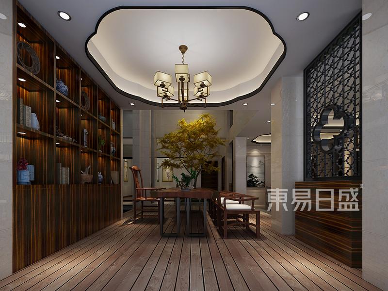 松山湖3号别墅负二层茶室装修效果图