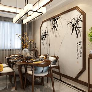 山水和苑新中式餐厅装修效果图