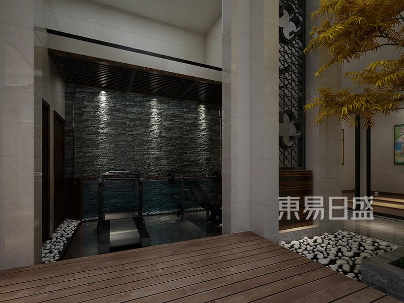 松山湖3号别墅负二层健身区装修效果图