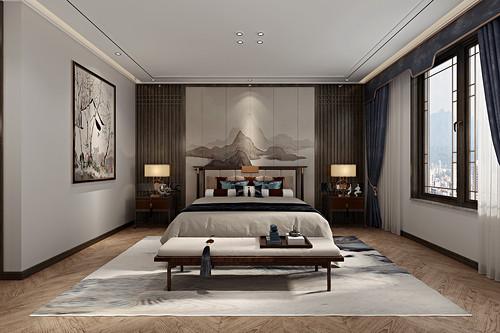 融创星美御 新中式装修效果图 别墅 432平米