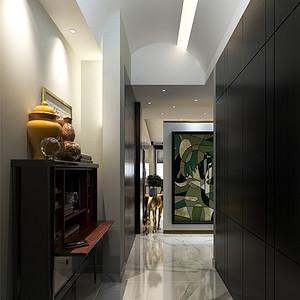 贝肯山现代摩登风格门厅装修效果图