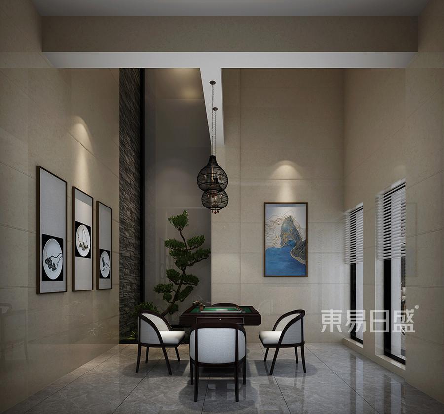 松山湖3号别墅负二层麻将房装修效果图