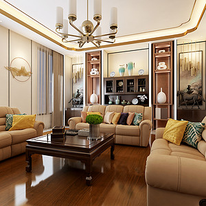 客厅沙发背景墙