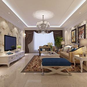 冠丰公寓-三室两厅-简欧风格装修案例