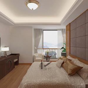 厚街丰泰观山碧水新中式卧室装修效果图