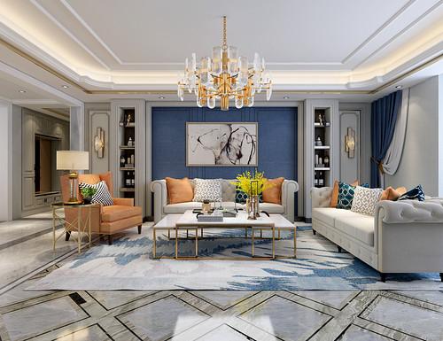 未来紫金府125平二室二厅新古典风格装修效果图