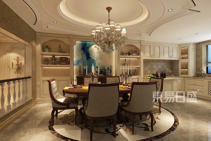 欧式古典风格餐厅装修设计效果图_2018装修案例图片