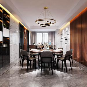 碧水龙庭-现代简约-餐厅装修效果图