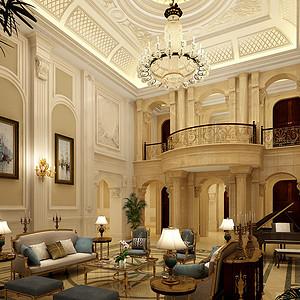 长岛英冠庄1500㎡别墅欧式奢华风格装修效果图
