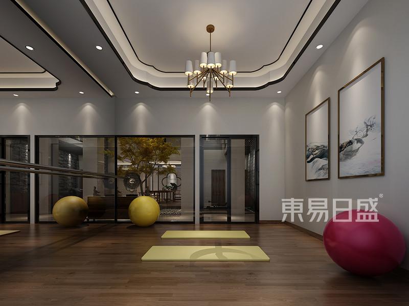松山湖3号别墅负二层瑜伽房装修效果图