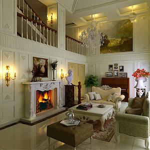 檀府新古典主义风格客厅装修效果图-第149页 西安新古典客厅装饰效果