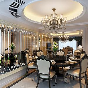 餐厅-扬州东易日盛装饰橡树湾跃层装修