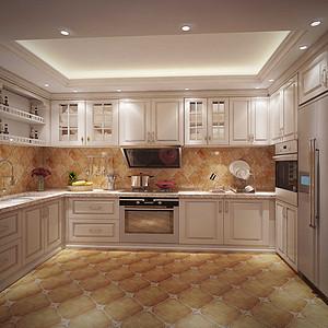 欧式现代风厨房装修效果图