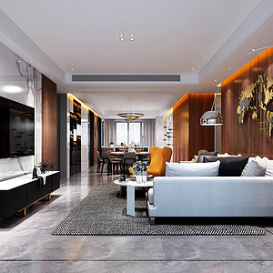 碧水龙庭-现代简约-客厅装修效果图