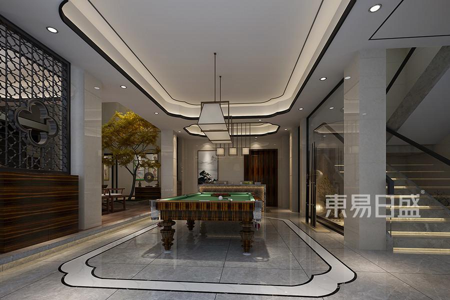 松山湖3号别墅负二层台球房装修效果图