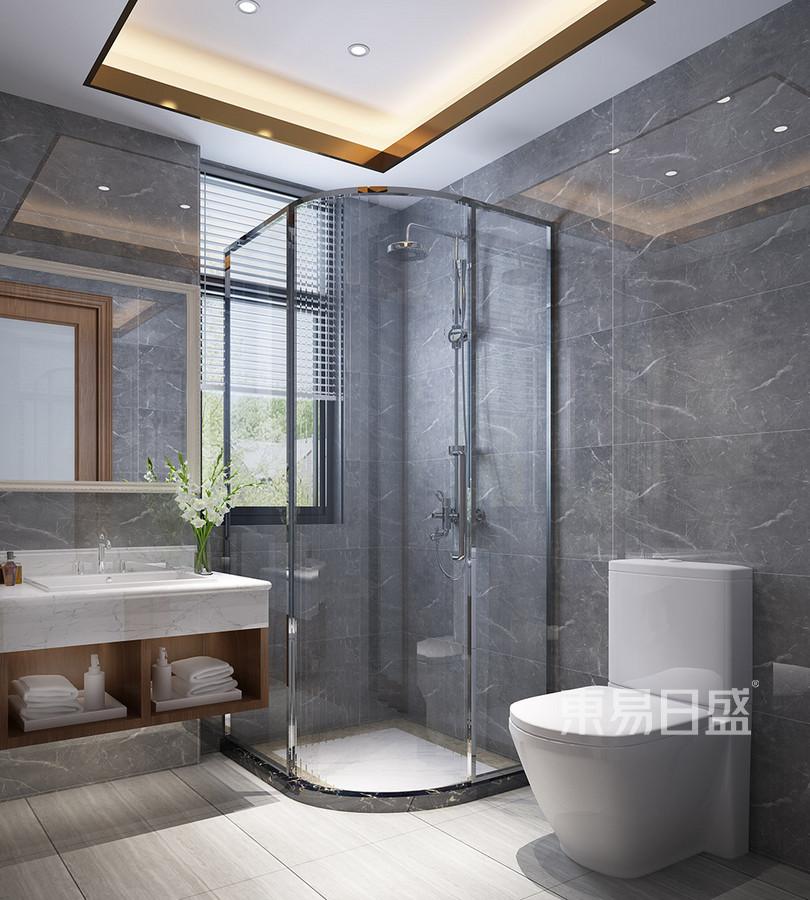 松山湖观园现代新中式卫生间装修效果图