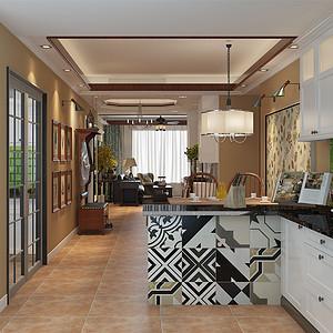 现代美式-厨房吧台