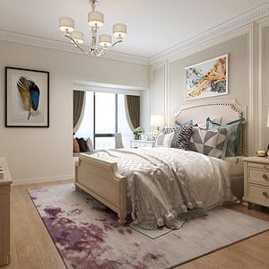 山语海  简美风格 卧室装修效果图