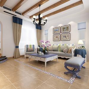 地中海风格客厅案例实景