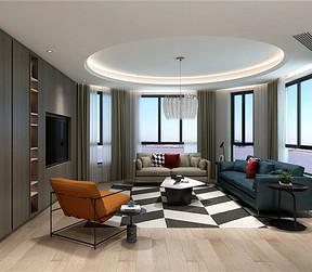现代轻奢客厅装修设计效果图