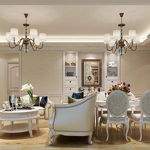 山语海 简美风格 90平米 三房两厅 装修效果图