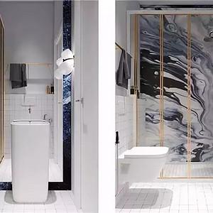 现代简约风格 卫生间装修效果图