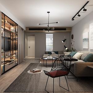 韦伯豪公寓-现代+工业风-135平米