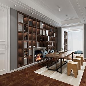 现代风格装修效果图-书房