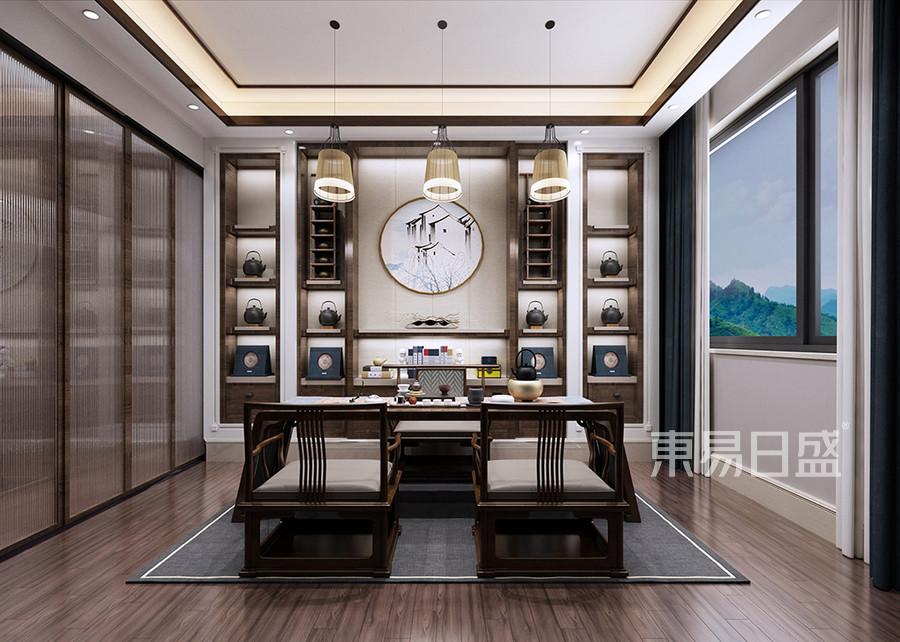 南城汇龙湾新中式茶室装修效果图