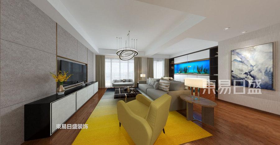 168㎡大平层五居 现代简约风格 客厅装修效果图