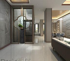 上海臻品嘉园650㎡现代中式别墅装修