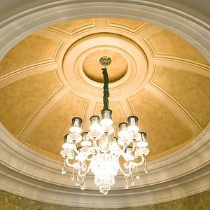 海逸独栋别墅新古典风格吊顶装修实景图