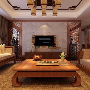新中式客厅电视背景墙