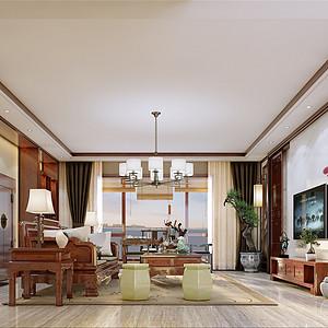 新中式-客厅