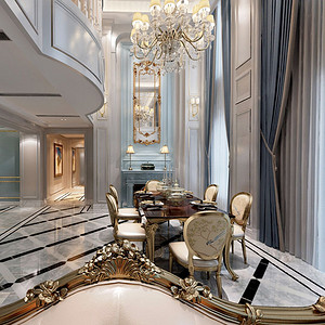 太湖国际社区 美式新古典 餐厅